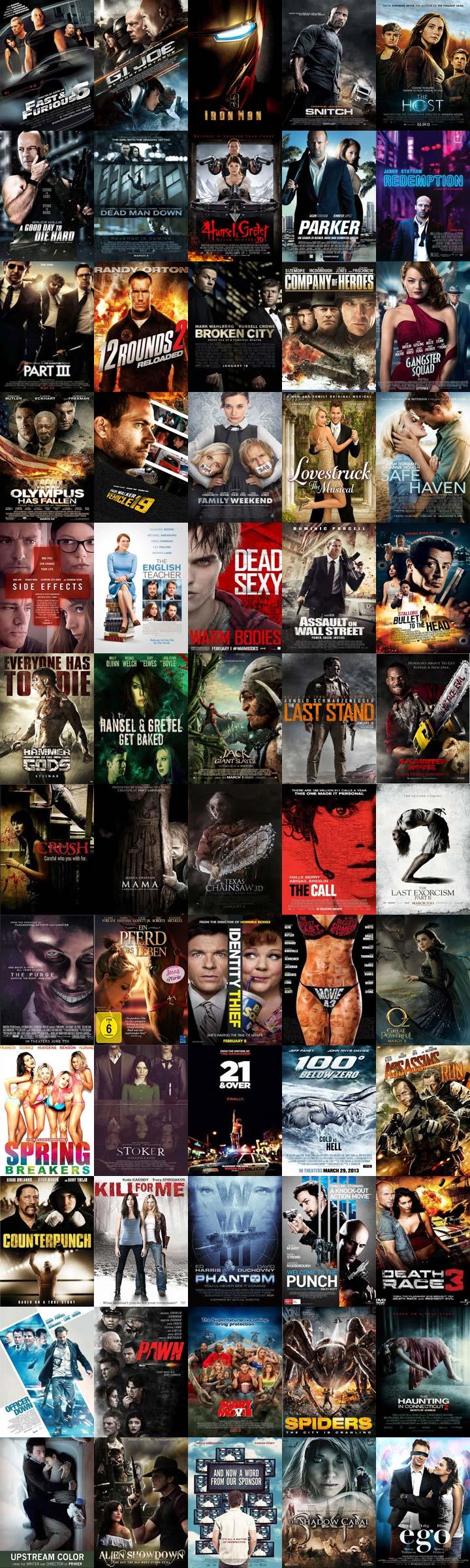 پکیج فیلمهای 2013 با کیفیت بلوری