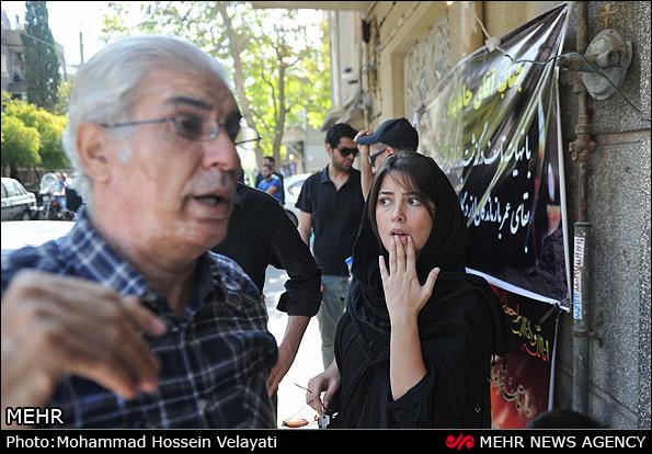 عکس تشیع جنازه پدر حامد بهداد