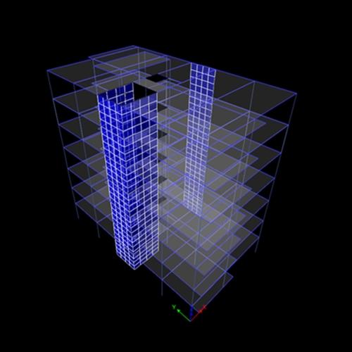 دانلود پروژه سازه پنج طبقه بتن آرمه