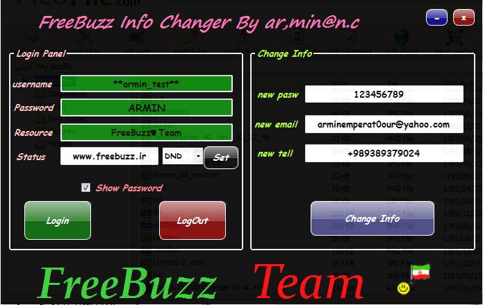 FreeBuzz Info Changer by ar,min INFO