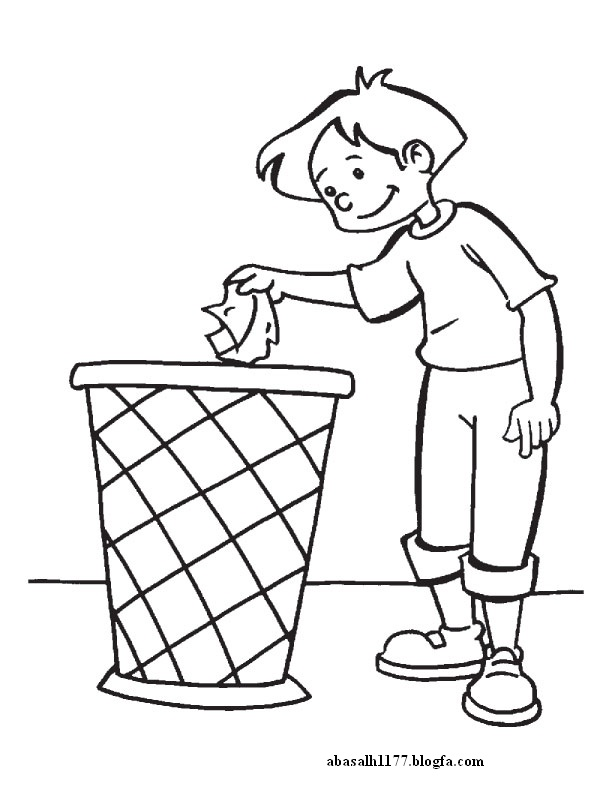 keeping clean coloring pages - photo#19