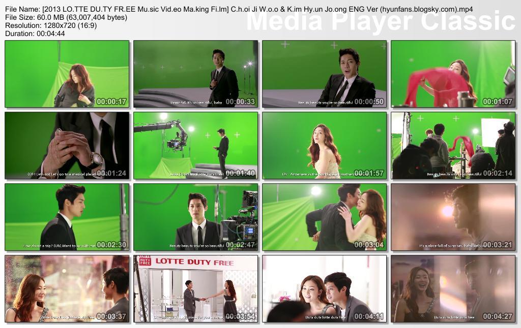 2013 Lotte Duty Free Music Video Making Film Choi Ji Woo & Kim Hyun Joong Eng Ver