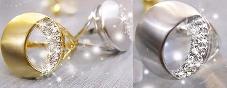 خرید اینترنتی انگشتر نقره زنانه و دخترانه در رنگ نقره اي و طلايي نگين دار مدل 2013