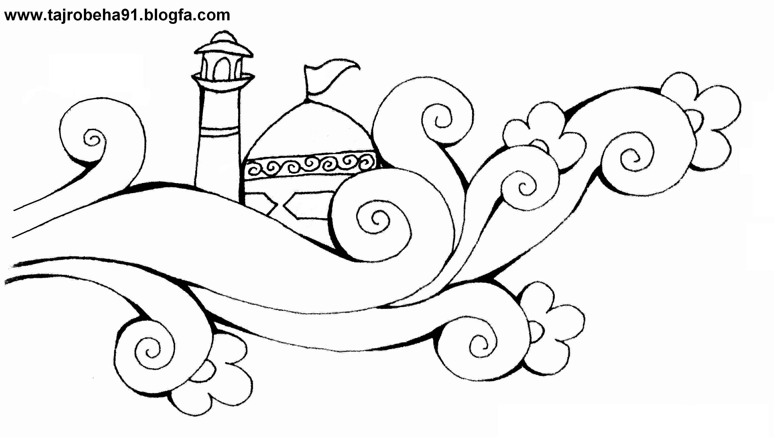 تصویر مذهبی کودکانه برای رنگ آمیزی میلاد امام رضا ع