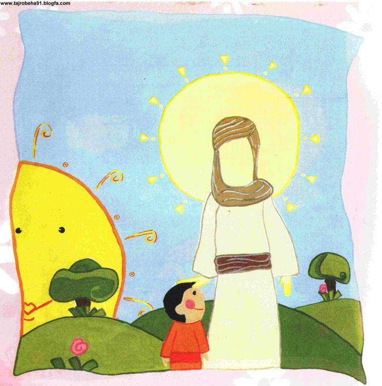 تصویر مذهبی کودکانه میلاد امام رضا ع