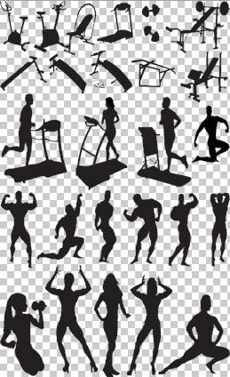 وکتور حرکات ورزش بدنسازی