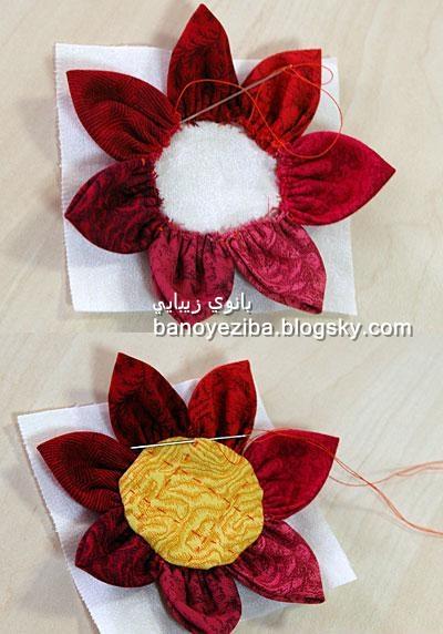 گل سازی با پارچه
