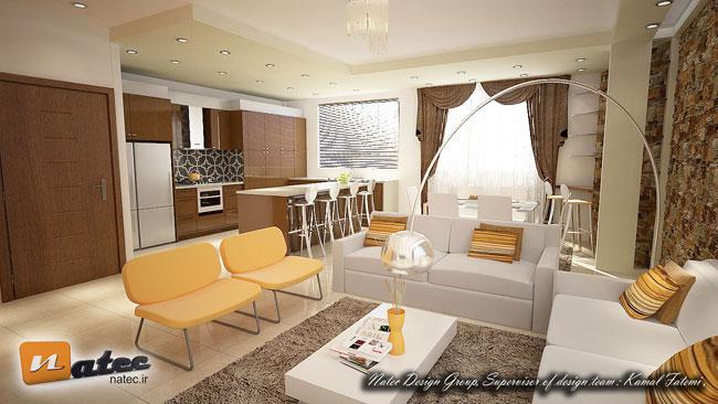 نمونه کار طراحی و دکوراسیون داخلی آپارتمان در اصفهان
