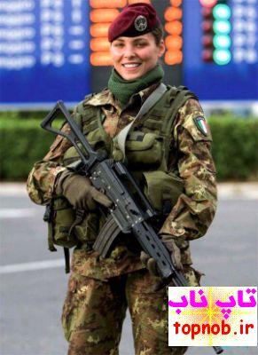 تاپ ناب عکس های زنان نظامی سراسر جهان