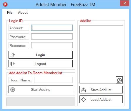 FreeBuzz Addlist Member Versian 1.0.0.0 Addlist_Member_Screen_SHOT