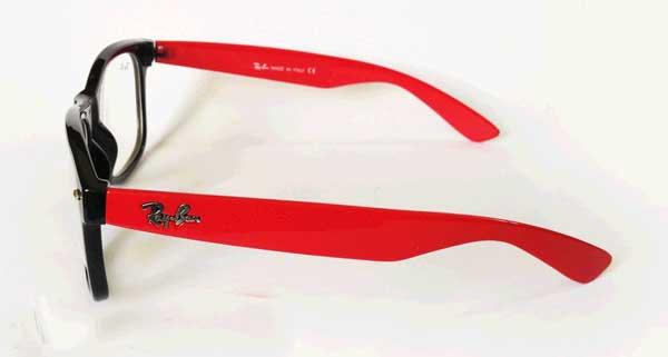 عینک ریبن شیشه سفید دسته قرمز ویفری