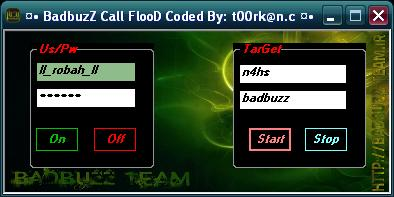 ¤• BadbuzZ Call FlooD Coded By_ t00rk@n.c ¤• Aaaaaaaaaaaaaaaa