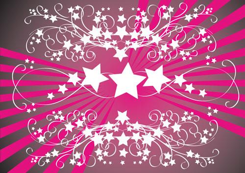 وکتور بک گراند ستاره