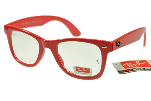 عینک ریبن فریم رنگی شفاف