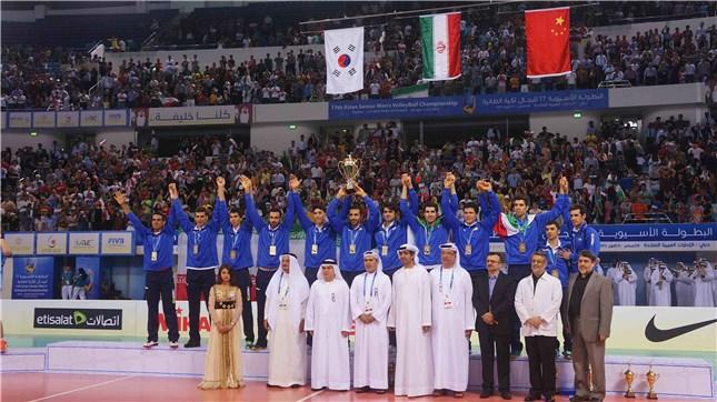 قهرمانی والیبال ایران در آسیا