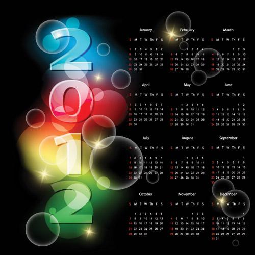 وکتور تقویم 2012