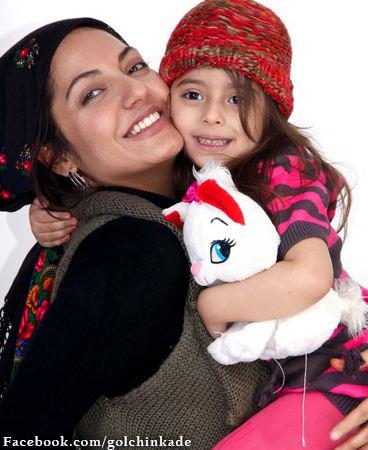 عکس مهناز افشار با دخترش