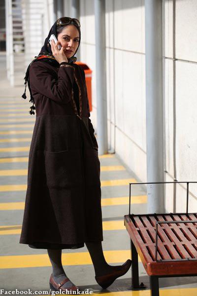 مهناز افشار در حال موبایل صحبت کردن