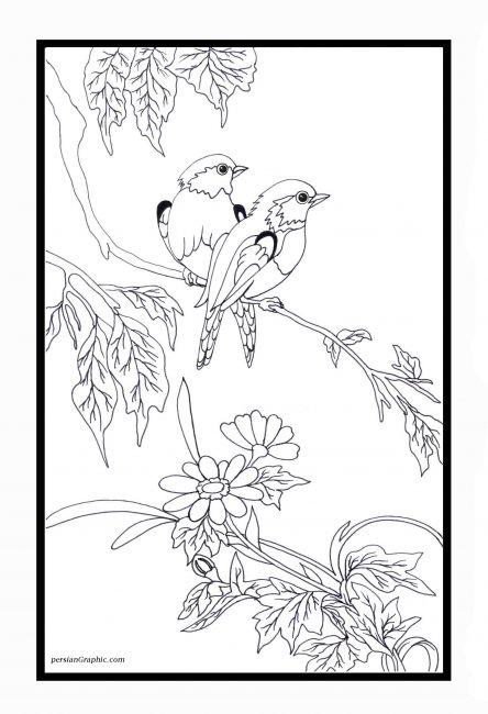 طرح گل روی ورق معرق
