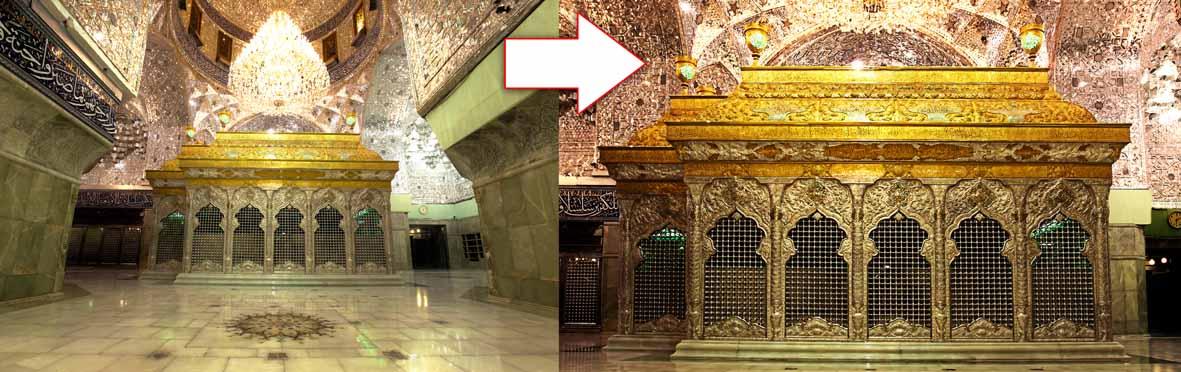 تصویر ضریح جدید امام حسین (علیه السلام) برای بنر پشت صحنه