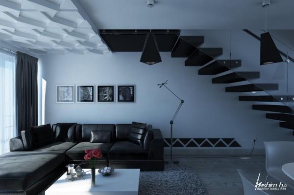 اتاق های نشیمن با فضای باز و جادار