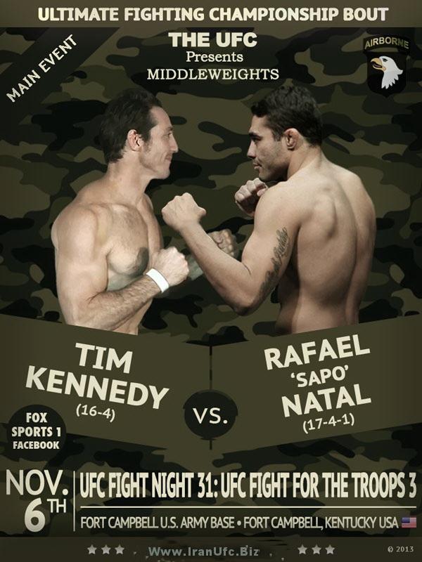 دانلــود یو اف سی فایت نایت 31 | UFC Fight Night 31 : Kennedy Vs Natal_نسخه 720P
