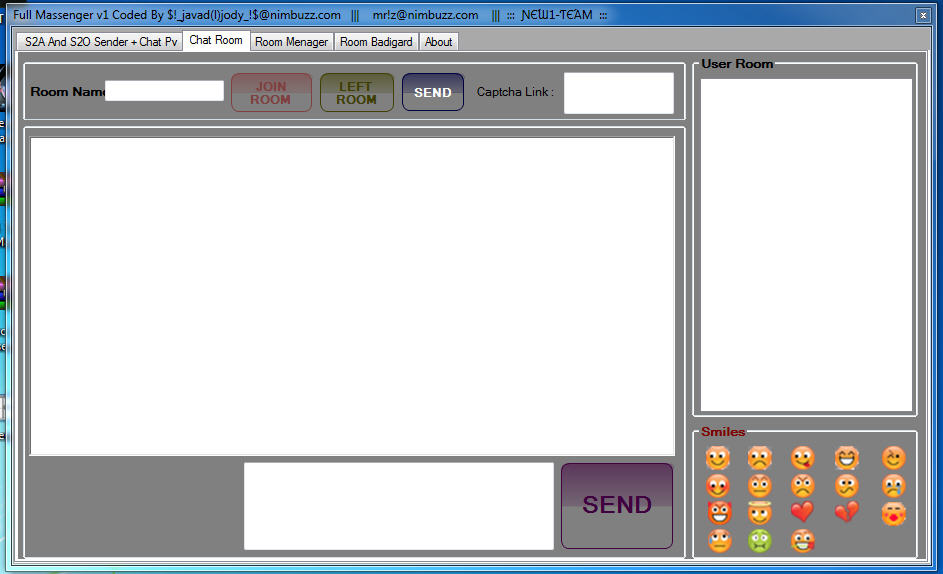 New1-Team Mini Full Massenger v1)S2a + S2o)without any adv( + Chat pv + Chat room + room manager + room Badigard( + source .. C# Massenger2