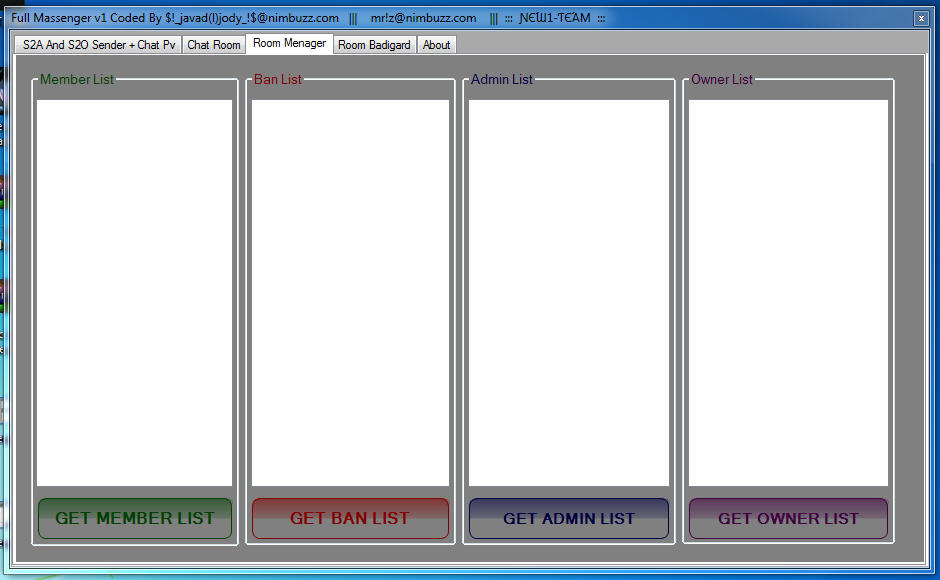 New1-Team Mini Full Massenger v1)S2a + S2o)without any adv( + Chat pv + Chat room + room manager + room Badigard( + source .. C# Massenger3
