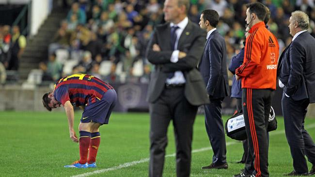 دوری ۶ تا ۸ هفتهای لیونل مسی از ترکیب بارسلونا