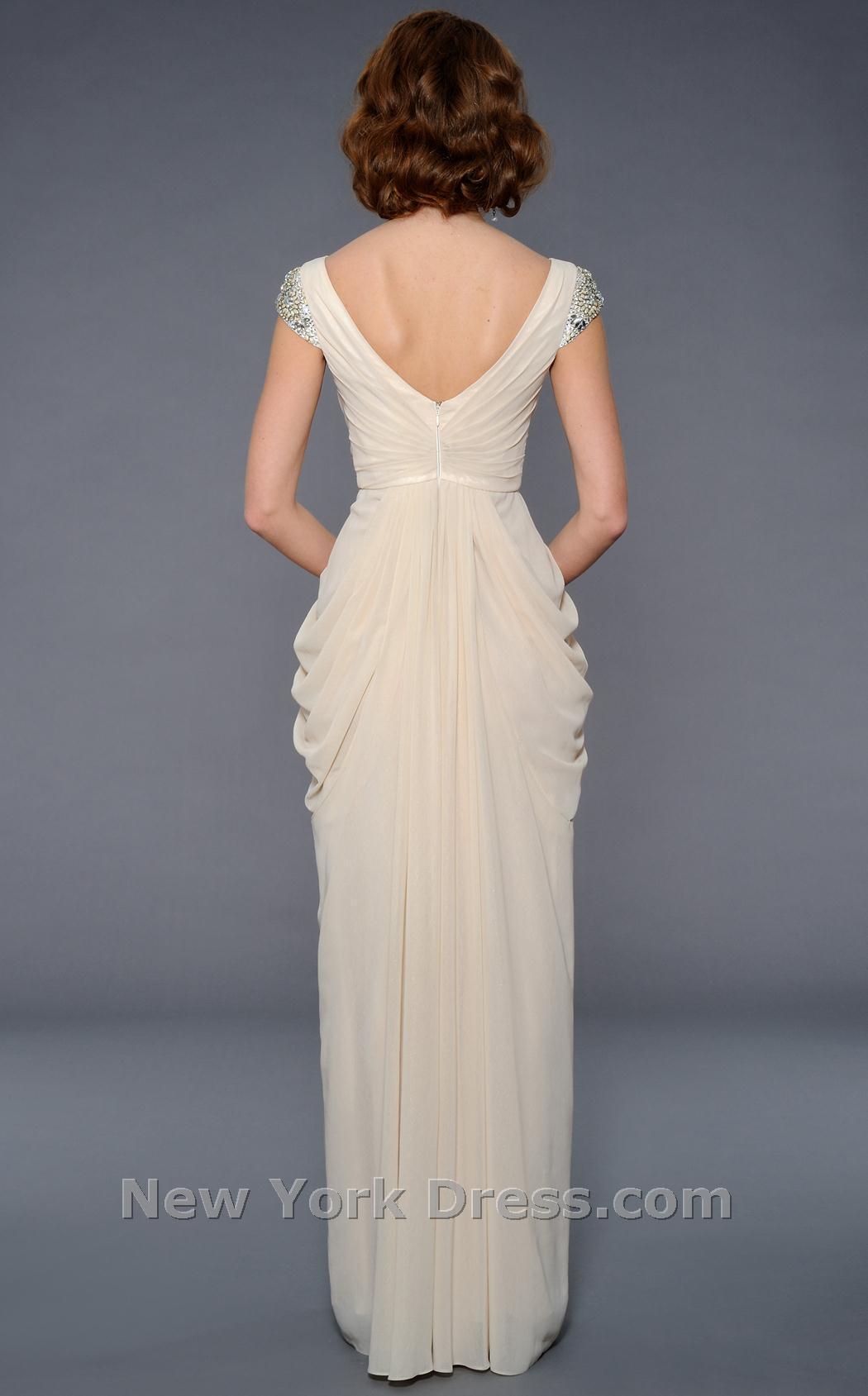 لباس شب از پشت