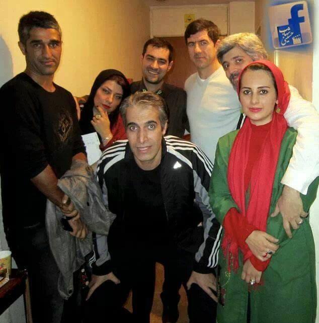 شهاب حسینی و همسرش در کنار پژمان جمشیدی و کریم باقری