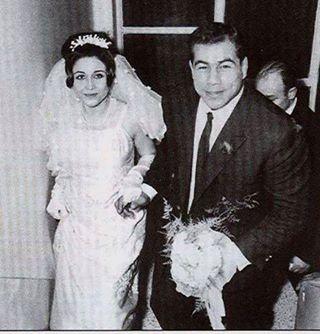 عکسی از عروسی جهان پهلوان تختی و همسرش