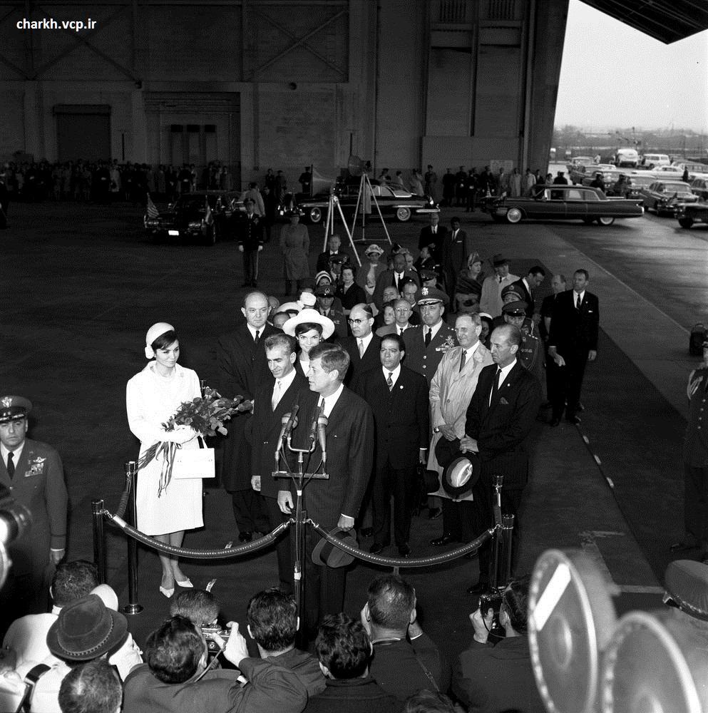 استقبال جان اف کندی از شاه ایران