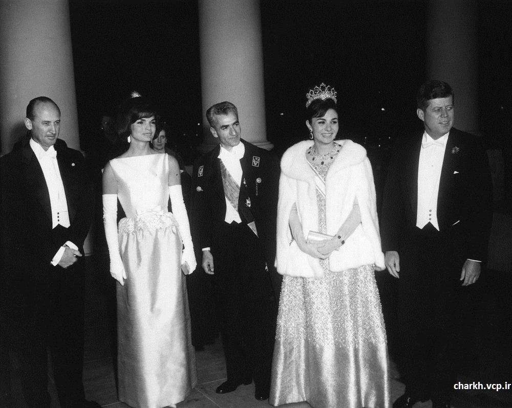 مراسم شام در کاخ سفید به افتخار شاه ایران