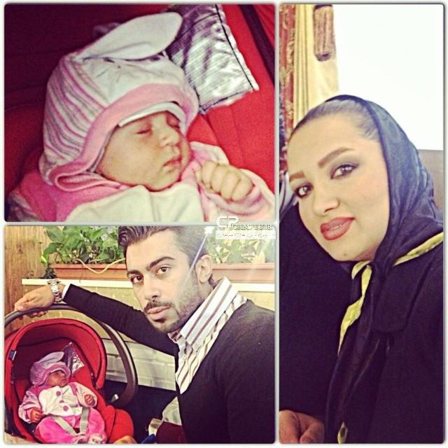 روناک یونسی و همسر و فرزندش