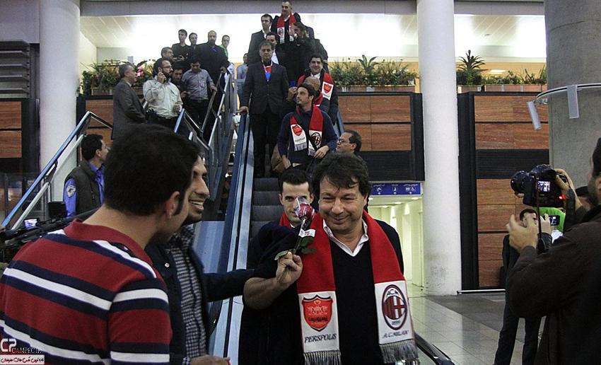 عکس های ورود ستارگان تیم فوتبال آث میلان به تهران