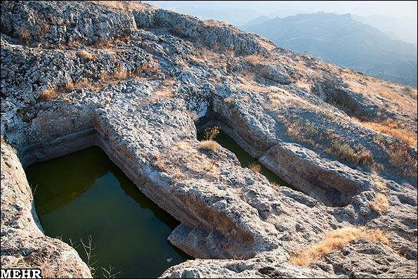 حوضچه هایی که برای ذخیره آب استفاده می شده
