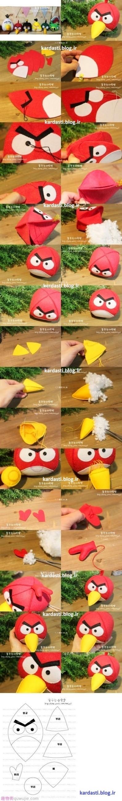 آموزش درست کردن عروسک پرندگان خشمگین