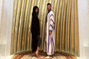 جنجال حضور سلنا گومز در مسجد شیخ زاید +عکس