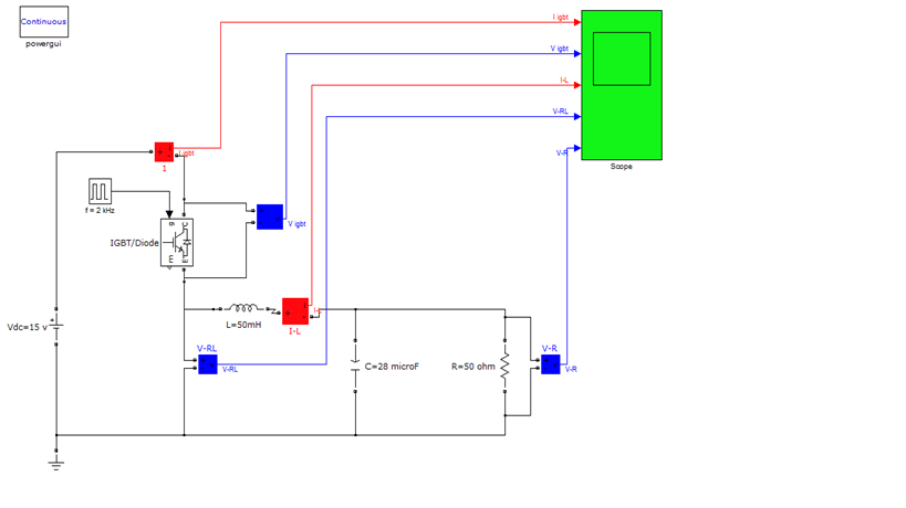 دانلود پایان نامه رشته برق یافتن علت سوختن IGBT در مدار مبدل باک