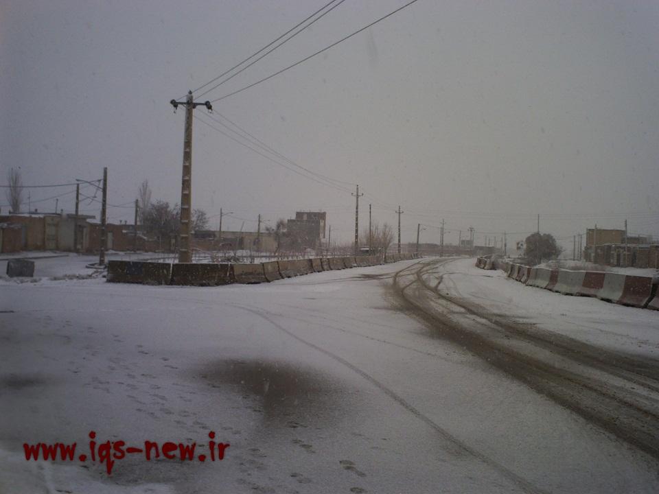 عکس روز برف در اسفرورین
