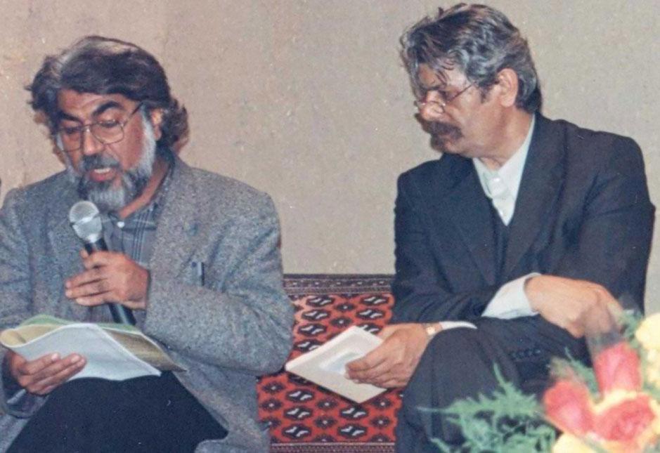 استاد حشمت الله اسحاقی و استاد دکتر قیصر امین پور