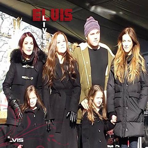 خانواده پریسلی، در مراسم 8 ژانویه 2015 در گریسلند