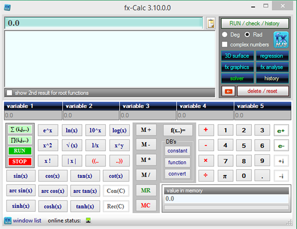 fxCalc 3.10.1 ماشین حساب پیشرفته و رایگان ویندوز