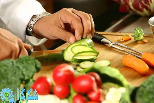 خواص خاصیت سبزجات میوه ها چاقو کارد فیبر کاهش کلسترول