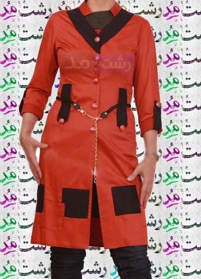 جدید ترین مدلهای خاص مانتو رنگ قرمز زنانه دخترانه 2015