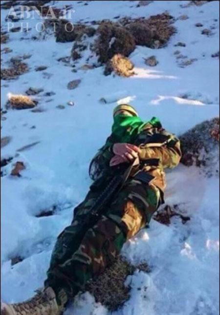 مدافعان حرم در برف