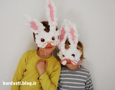 آموزش ساخت صورتک خرگوش