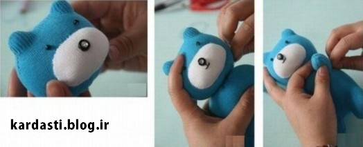 آموزش درست کردن عروسک خرس بامزه با جوراب