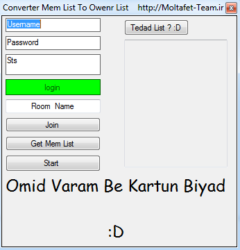 Source C# Converter Mem List To Owenr List / تبدیل ممبرلیست به اونرلیست Mem_own